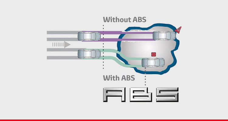 Anti-Lock Brake System (ABS) with Electronic Brake-force Distribution (EBD) and Brake Assist (BA)