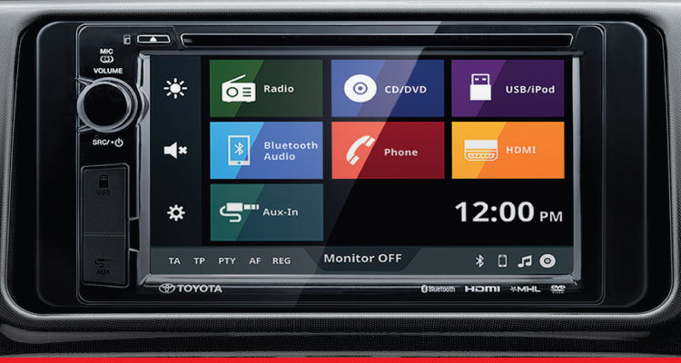 DVD-AVX (Audio Visual Auxiliary) System and Reverse Camera with Guide Lines