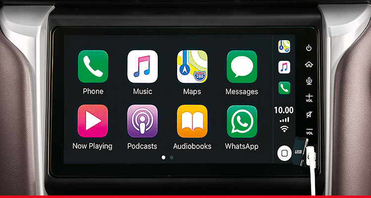 Apple CarPlay and Android Auto-Ready Connectivity