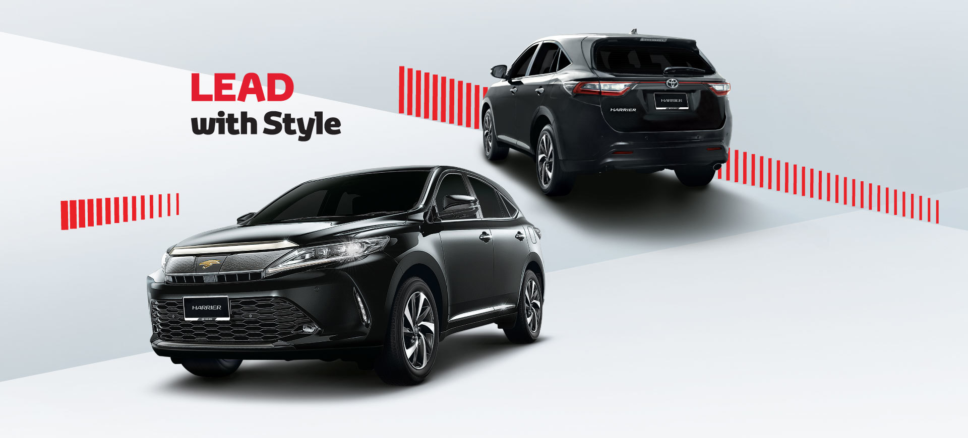 The all-new Toyota Harrier is not only powerful and technologically  advanced, but is also styled dynamically to match the leaders of today's  modern era.