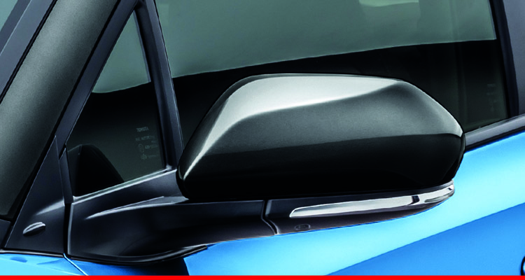 Auto Fold Wing Mirrors with Built-In Turn Signal Lamps