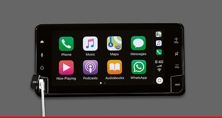 6.75-inch Display Audio with Apple CarPlay & Android Auto-ready Connectivity*