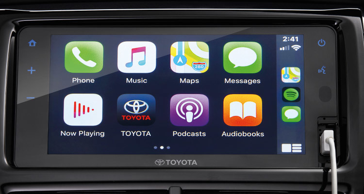 Apple CarPlay & Android Auto-ready Connectivity