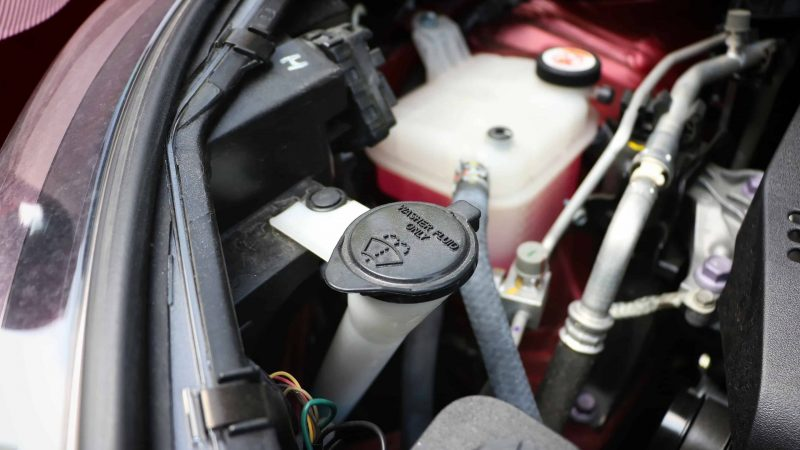 How to Check Windshield Washer Fluid Level on Your Vehicle - Toyota Pre-Roadtrip Checklist